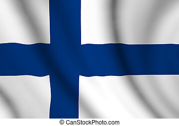 wavy finnish flag illustration