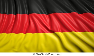 Wavy flag of Germany closeup background