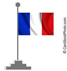 wavy french flag illustration