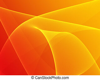 Wavy glowing colors - Abstract wallpaper illustration of ...