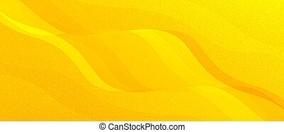 Wavy golden shape background