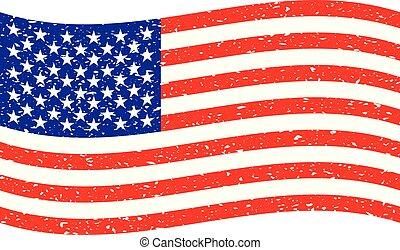 wavy grunge USA flag
