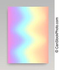 Wavy iridescent gradient backdrop