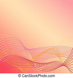 Wavy Lines Background in Warm Colors 1