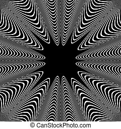 Wavy lines pattern. White texture on black background.