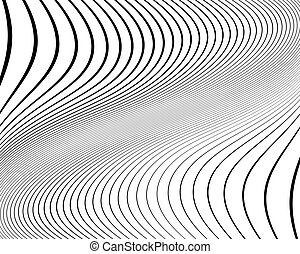 Wavy pattern. Texture with wavy, curves lines. Optical art...
