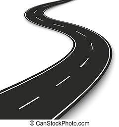 Wavy road strip. Highway strip template design for...