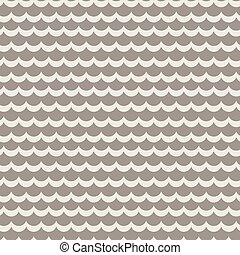 Wavy rows seamless vector pattern. Geometric repeating...