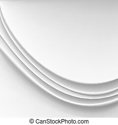 Wavy Silk Abstract Background Vector. White Or Silver Realistic Drape Texture Illustration
