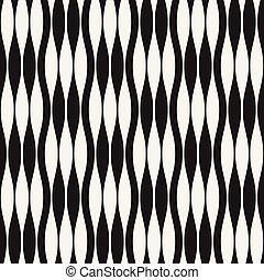 Wavy stripes vector seamless pattern. Retro wavy texture....