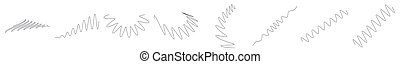Wavy, waving, billowy lines. Curve, camber, arc effect lines. Curl, camber, flex effect lines - stock vector illustration, clip-art graphics