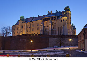 wawal, castelo, krakow, -, polônia