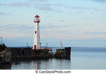 Wawatam Lighthouse in St. Ignace Michigan