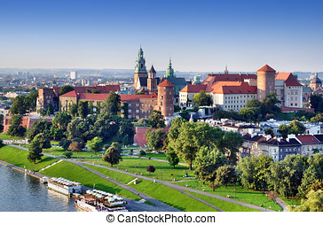 Wawel Castle in Krakow, Poland - Historic royal Wawel castle...