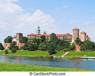 royal castle at Wawel hill, Krakow, Poland