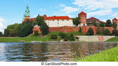 wawel, hofburg, und, kathedrale, in, krakow, polen