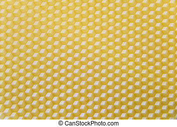 Wax base for honeycomb - Yellow background - wax base for ...