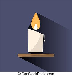 Wax candle color icon with shade on dark background