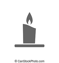 Wax candle icon on a white background