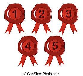 Wax Number Stamps 1 to 5