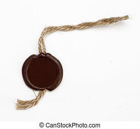 wax seal on white background