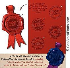 Wax Seal - Top Secret