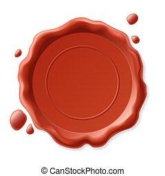 Wax seal - Vector illustration of wax seal