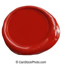 Wax Seal. Vector - Wax seal with blank field