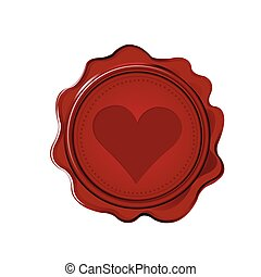 Wax seal with heart