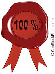Wax Stamp 100 Percent.
