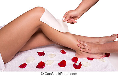 Wax treatment - Sugaring: epilation with liquate sugar at ...