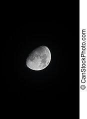 Waxing Gibbous Moon 30 October 2017 Portrait