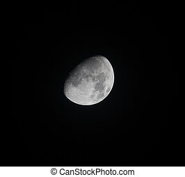 Waxing Gibbous Moon on 30 October 2017, over Sussex in England.
