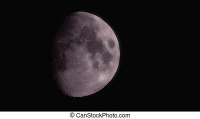 Waxing Gibbous Moon @ 400mm on MFT 800mm Fullframe