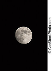 Waxing Gibbous Moon Portrait Photo Dimensions With Copy Space,