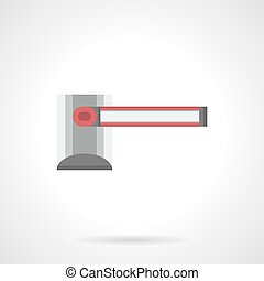 Way barrier flat color vector icon