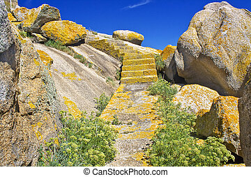 Way between rocks