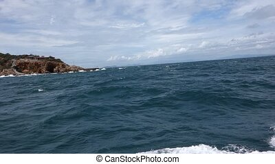 View to Ko Khrok Island. - Way from Koh Larn (Na Ban Pier)...