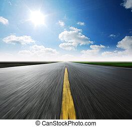 high way blue sky - Way high way blue sky to Travel ...