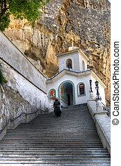 Way in a temple - Svyato-Uspensky Monastery it is an...