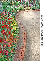 way in the garden