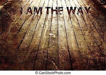 """way"""", religiöses, """"i, hintergrund"""