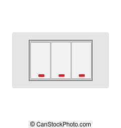 Way rocker light switch technolog home equipment flat vector icon