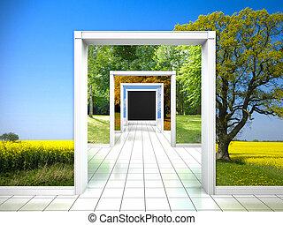 way through the four seasons - interior with walk through...