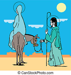 way to bethlehem. Vector illustration