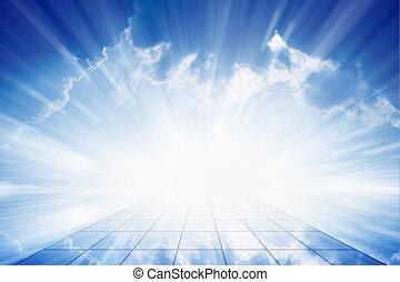 Way to heaven - Peaceful background - beautiful blue sky...