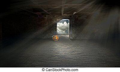 way to light in ruin room