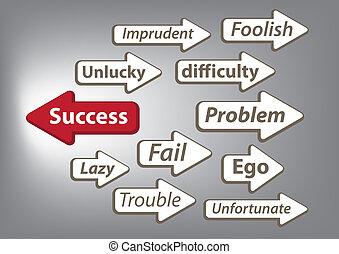 Way to success arrow graphic