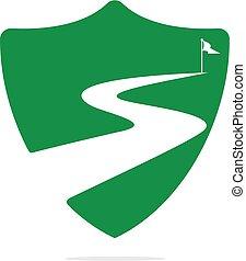 Way to success vector logo design.