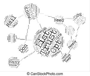 Ways To Get Your Opt In List To Trust You Quickly Word Cloud Concept Text Background